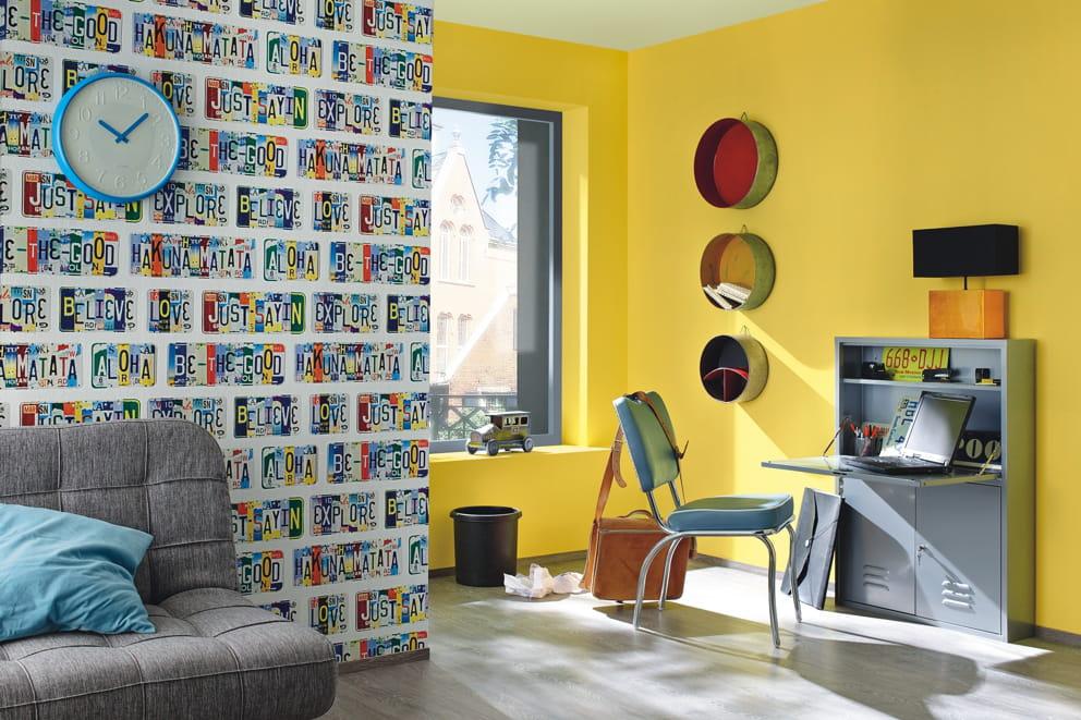 papier peint am ricain de rasch. Black Bedroom Furniture Sets. Home Design Ideas