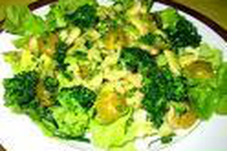 Salade et courgette