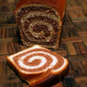 pain de mie tourbillon au chocolat