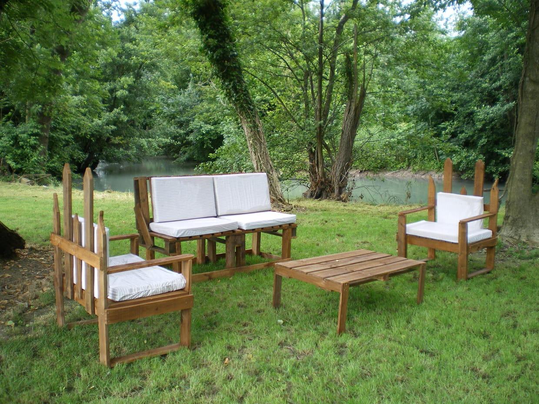 Salon de jardin en palette for Jardin 7 17