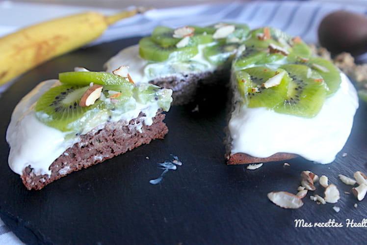 Gâteau fondant au cacao et banane sans beurre