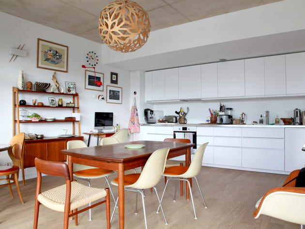 Une cuisine ouverte vintage