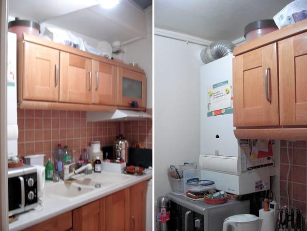 Avant : une cuisine vieillotte