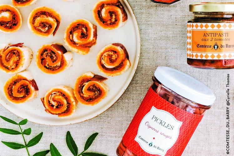 Maki de jambon bellota, antipasti aux 2 tomates