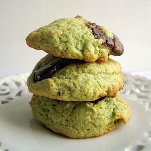 cookies à la pistache et pépites de chocolat