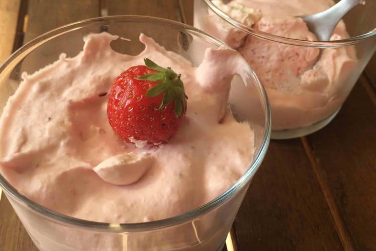 Mousse de fraises au mascarpone