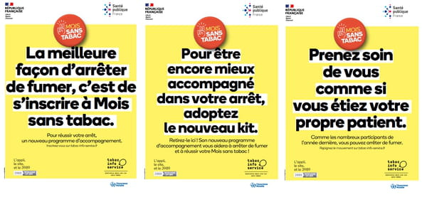 Affiches 2021 du Mois sans Tabac