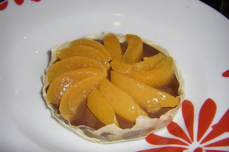 Tartelettes fines au chocolat et fruits