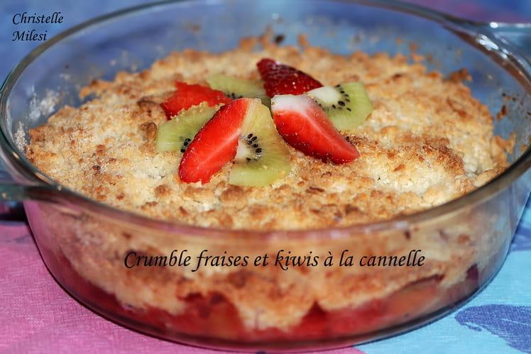Crumble fraises et kiwis à la cannelle