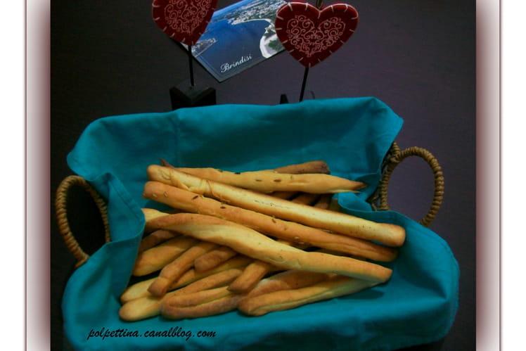 La recette des grissini, spécialité piémontaise.