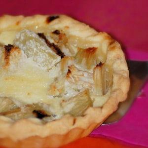 tartelette rhubarbe et noix de coco