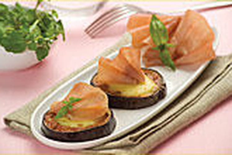 Médaillons d'aubergine au jambon cru Weight Watchers