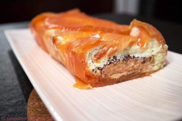 Terrine de saumon fumé, crème au Wasabi