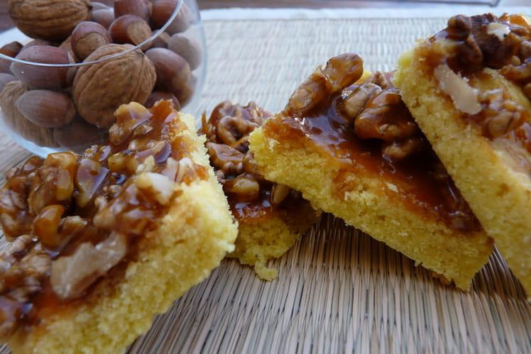 Sablés au chocolat blanc et ses noix caramélisées