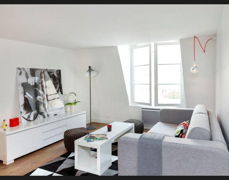 Un salon clair et moderne