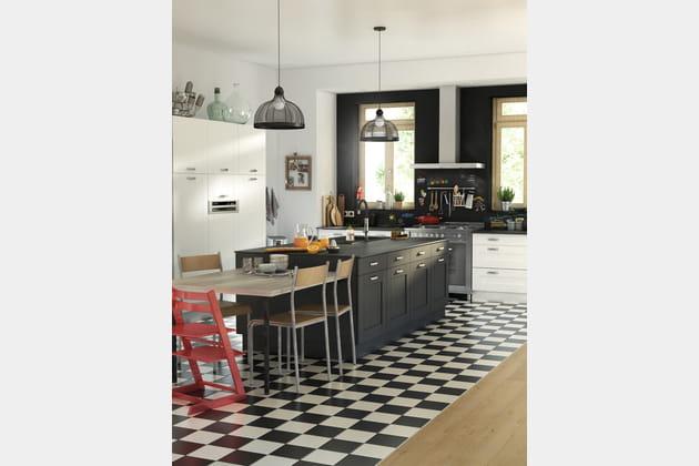 Cuisine rétro Cooke & Lewis Kadral chez Castorama