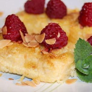 polenta poelée à l'amande