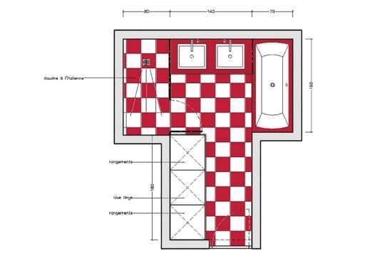 10 plans pour une salle de bains de 5 m for Plan douche a l italienne