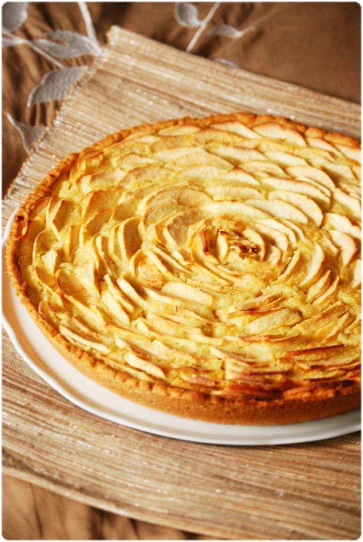 recette tarte aux pommes et crème d u0027amandes pour 8 personnes