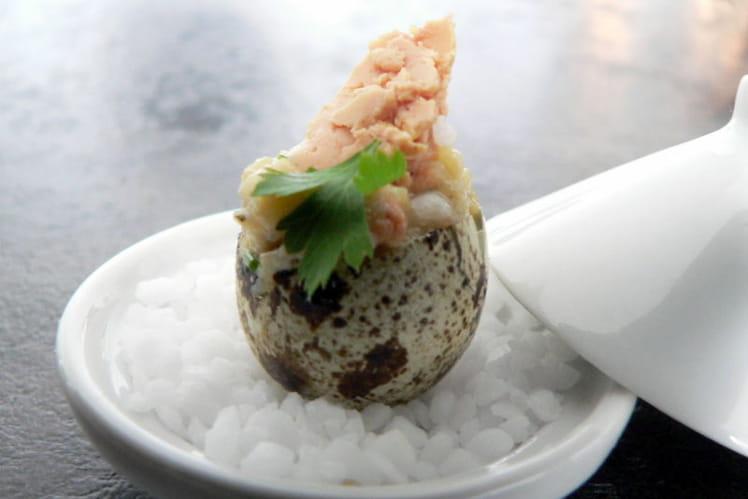 Oeufs de caille au foie gras