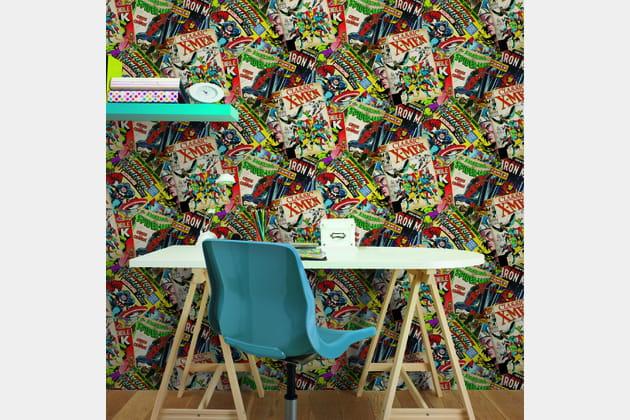 papier peint couverture de bd marvel chez graham brown. Black Bedroom Furniture Sets. Home Design Ideas