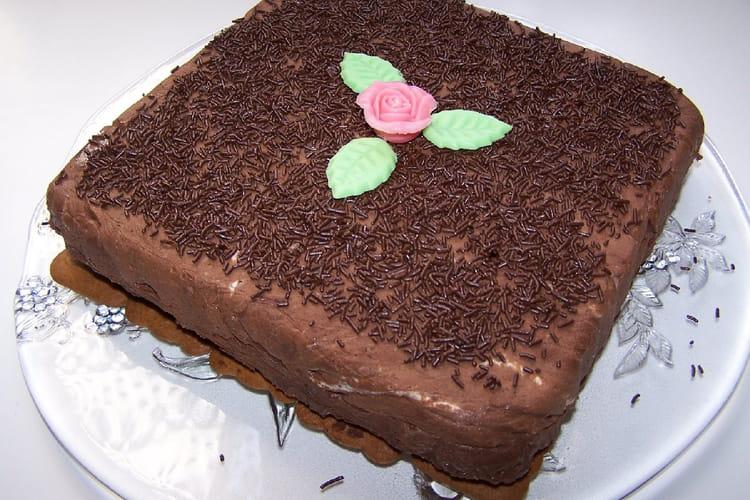 Marquise au chocolat et à la fleur d'oranger