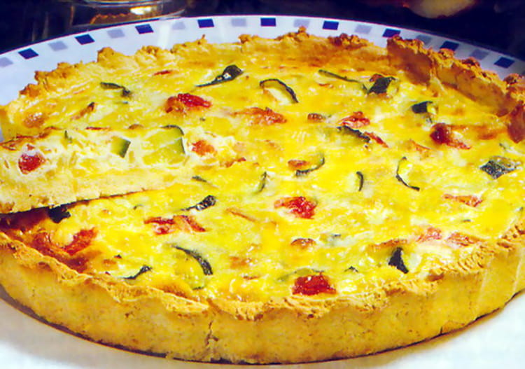 recette de quiche courgette tomate la recette facile. Black Bedroom Furniture Sets. Home Design Ideas