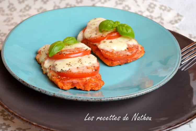 Pain perdu tomate et mozzarella