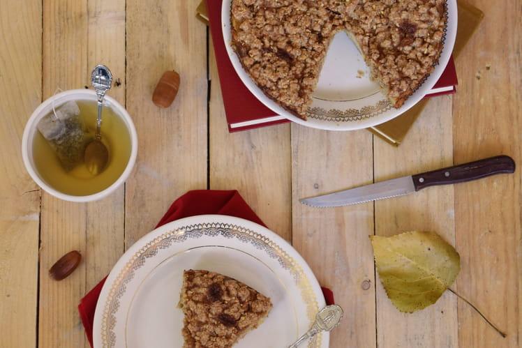 Crumble cake invisible aux pommes parfumé à la cannelle sans gluten