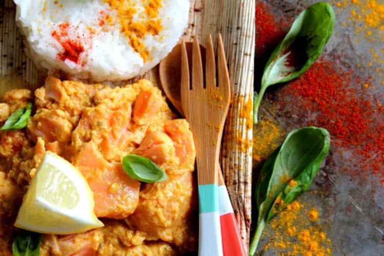 Curry indien de saumon au lait de coco