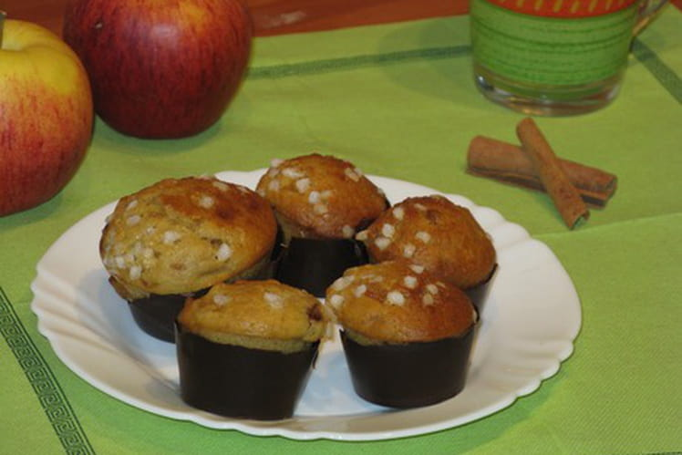 Muffins pommes-cannelle deluxe de lili
