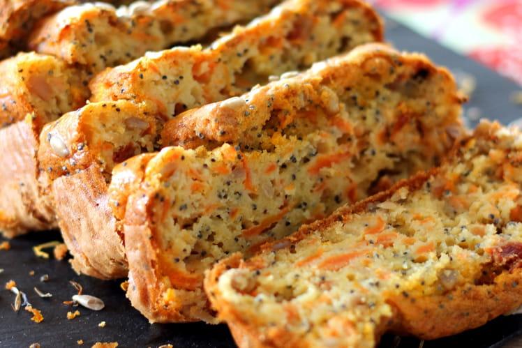 Cake Carotte - Pavot et Graines de Tournesol
