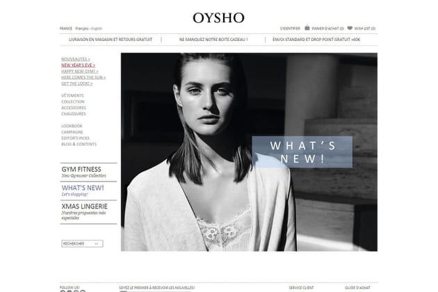 Le e-shop de Oysho