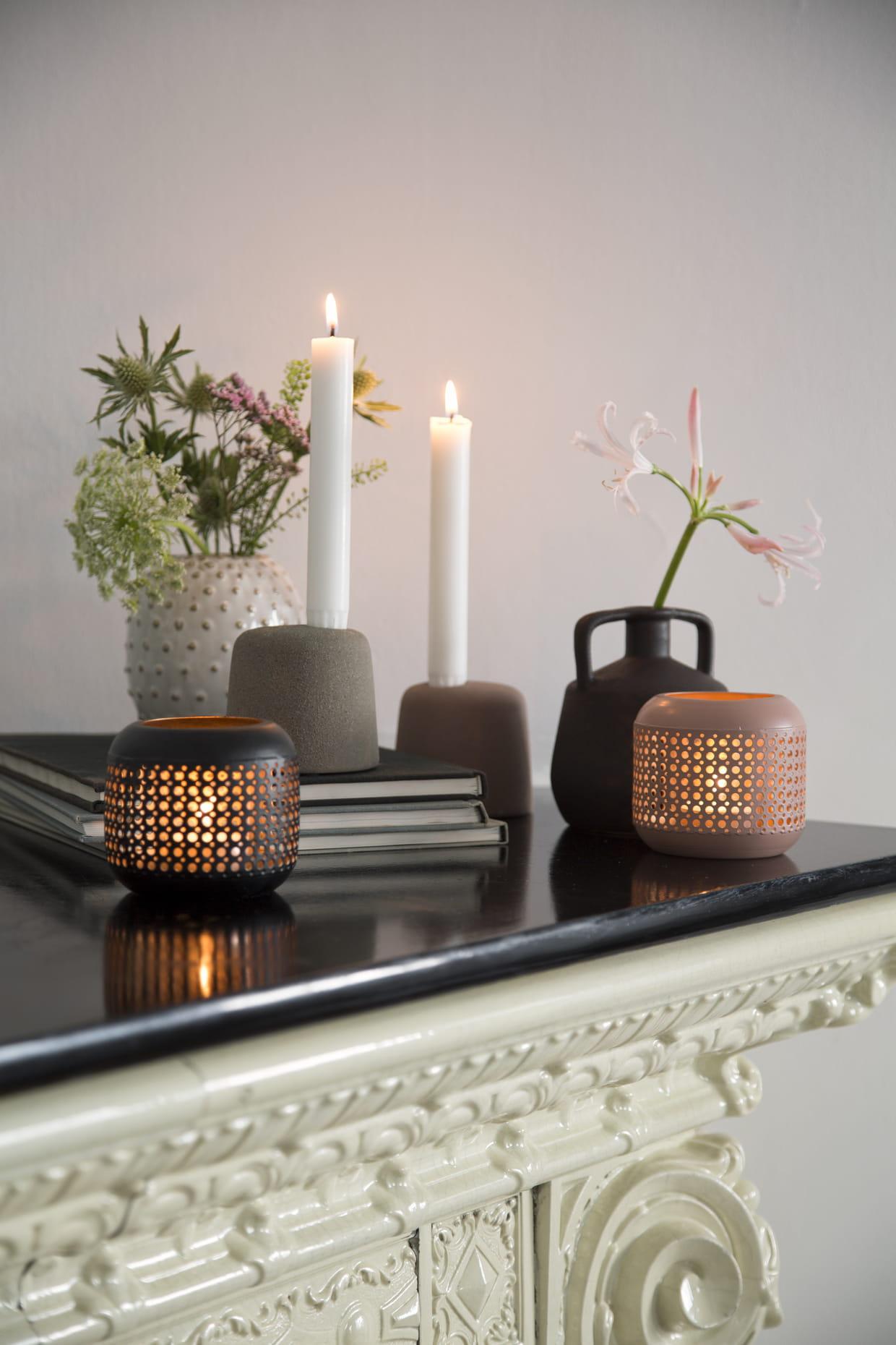 porte bougie et bougeoir. Black Bedroom Furniture Sets. Home Design Ideas