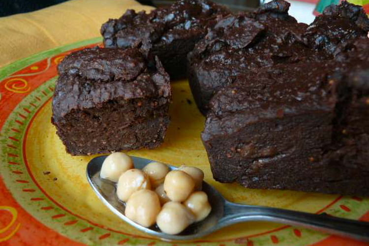 Petits cakes chocolat pois chiches
