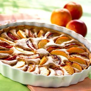 tarte aux pêches, crème d'amandes