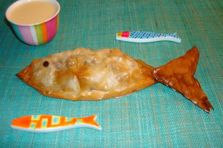 Petits poissons croustillants et leur crème anglaise