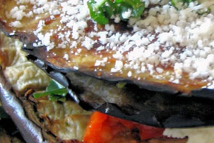 Recette de mille feuille d 39 aubergines l 39 italienne la recette facile - Aubergine grillee a l italienne ...