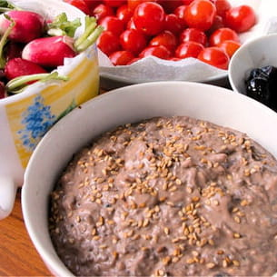 crème d'artichaut aux olives noires
