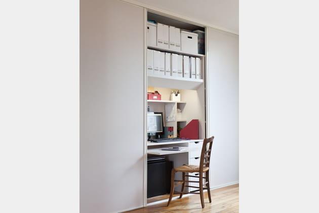 Un bureau bien caché et modulable