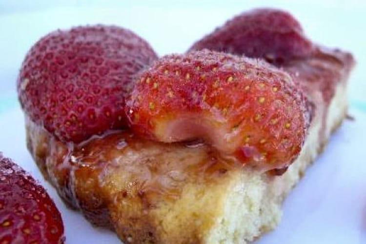 Tarte aux fraises express
