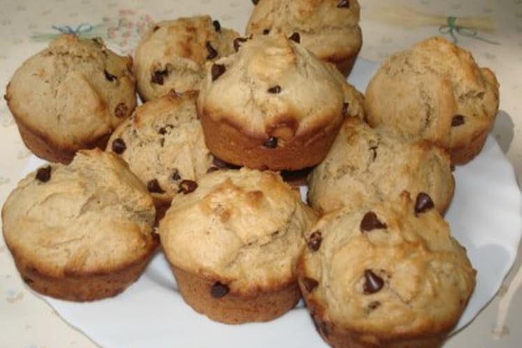 Muffins au beurre de cacahuètes et chocolat
