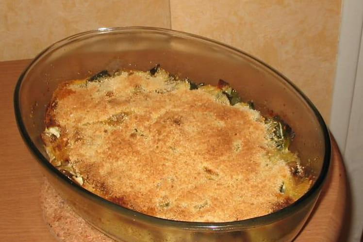 Gratin poireaux-champignons au fromage blanc