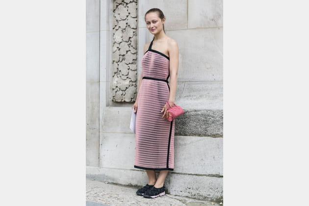 Street looks fashion week haute couture : futuriste