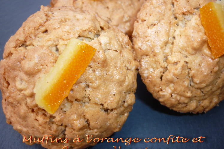 Muffins à l'orange confite et aux flocons d'avoine