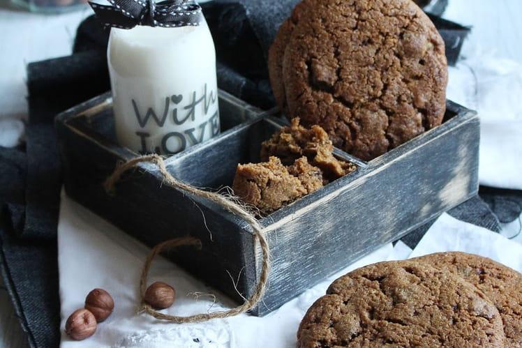 Cookies pralinés chocolat et pépites de chocolat