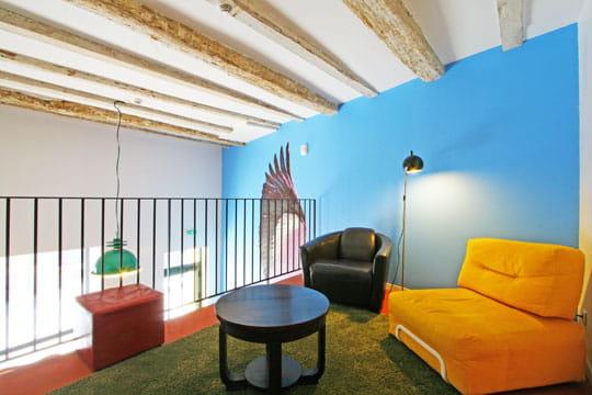 Une mezzanine colorée