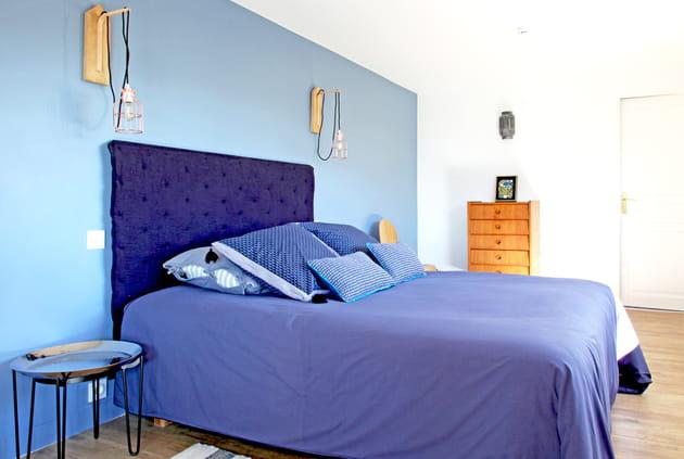 Chambre bleu et bois