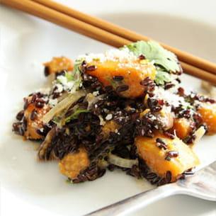 riz vénéré à la courge butternut façon risotto