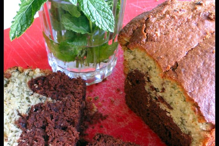 Cake marbré chocolat-menthe